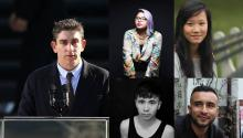 Photos: Richard Blanco, Sonia Guiñansaca, Jenny Xie, Ocean Vuong, and Javier Zamora. Credits below.