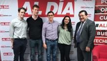 MBA STUDENT LEADERS at Wharton visited the AL DÍA office on Mar. 1.