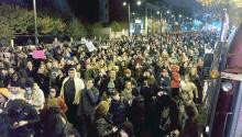 Los manifestantes se reunieron en al plaza Thomas Paine, al otro lado de la Alcaldía, para protestar después de la elección de Trump. Foto:Jamila Johnson/AL DÍA News