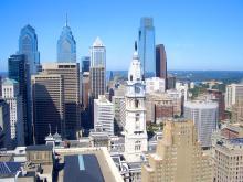 Philadelphia skyline. Shutter Stock Photo.