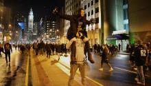 Fans celebrate after thePhiladelphiaEagles won the Super Bowl LII, inPhiladelphia. Peter FItzpatrick