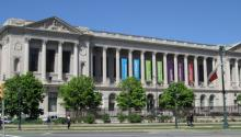 The Parkway Central Library at 1901 Vine Street between N. 19th and N. 20th Street in the Logan Circle area of Philadelphia, is the main library of the Free Library of Philadelphia. Photo: Commons/Wikimedia