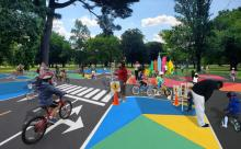 Lil' Safety Village. Photo: Bicycle Coalition of Greater Philadelphia and Kaboom!