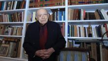 Spanish-born philosopher and poet Ramon Xirau is seen at his Mexico City home in a photo taken Jan. 20, 2014. EFE/Mario Guzman/File