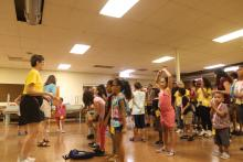 Around 37 children, many of whom were from families displaced by Hurricane Maria who evacuated to Pennsylvania, attended Liberty Lutheran churches' Camp Noah in Reading, PA, for a weeklong program in mid-August. Photo: Emily Neil / AL DÍA News