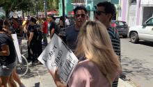 Muchas protestas se apoderaron del Viejo San Juan pidiendo la renuncia del gobernador Ricardo Rosselló. Foto: Mónica Perez Nevarez.