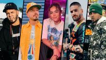 Anuel AA, J Balvin, Karol G, Maluma and Ozuna, nominees for the 'Premio lo Nuestro 2021' photo: Official Instagram