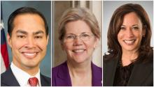 Julián Castro, Elizabeth Warren and Kamala Harris are three of the most talked-about names for the 2020 Democratic primaries.