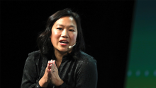 Priscilla Chan, co-founder of the Chan Zuckerberg Initiative, speaks during at TechCrunchin San Francisco, CA. Photo: Justin Sullivan / Getty Images