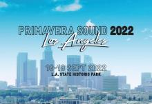 Official poster of Primavera Sound, Los Angeles 2022 edition.