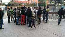 African migrants wait to process their immigration papers in Rome, Italy. © Alberto Vourvoulias, 2014