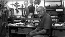 The sculptor and artist Rafael Consuegra. Archive image.