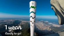 Photo provided by Rio 2016 Organizing Committee that shows the Rio 2016 Olympic torch and Christ the Redeemer: two great symbols of South America (Photo: Rio 2016/Alex Ferro)