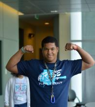 Teen at a previous year's #RISE Youth Summit. Photo: Youth Service, Inc.