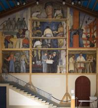 Diego Rivera's Mural at San Francisco Art Institute. Image from SFAI