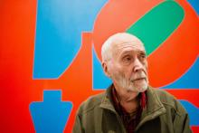 Robert Indiana / Photo by Lauren Casselberry / Associated Press / Taken from: THE WINE ENTHUSIAST GUIDE TO ART & WINE