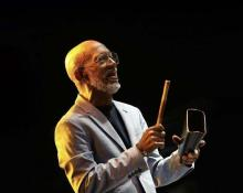 The legendary salsa singer Roberto Roena, file image.