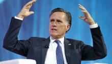 El ex candidato republicano Mitt Romney en una conferaFormer Republican candidate Mitt Romney at a conference in Salt Lake City on January 19, 2018. Photo: APencia en Salt Lake City el 19 de enero del 2018. Foto: AP