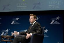CEO of Tesla Motors and SpaceX, Elon Musk speaks at the Texas Transportation forum in Austin on January 15th, 2015. Photo:Robert Daemmrich Photography Inc/Corbis via Getty Images.