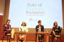 Local leaders speak on the trends of the Philadelphia economy, and the intersection between entrepreneurship and economic growth during the State of Hispanic Business 2019. Photo: Jensen Toussaint/AL DÍA News.