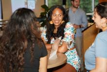 Tribaja founder Shannon Morales (center) with attendees of Tribaja networking event. Photo Courtesy of Shannon Morales.
