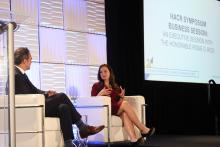 An executive session with The Honorable Rosie G. Rios during the HACR Symposium. Photo: Keyvan Antonio Heydari