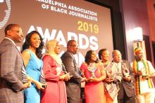 Honorees at the 2019 PABJ Awards & Scholarship Gala. Photo: Jensen Toussaint/AL DÍA News.