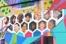 Newly unveiled mural produced by Philadelphia residents, a result of a partnership between Philadelphia Foundation and Mural Arts. Photo: Jensen Toussaint/AL DÍA News.
