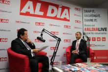 Damian Rivera, CEO of ALPFA, visited the AL DÍA newsroom on Sept. 25. Photo: Nigel Thompson/AL DÍA News.