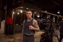 Gabriel Rosado, Philly boxer, poses after workout ahead of his fight later this week. Photo: Jensen Toussaint/AL DÍA News
