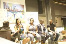 Local leaders working to diversify the tech community in the city. Photo: Jensen Toussaint