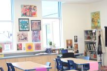 Classroom inside Independence Charter School. Photo: Jensen Toussaint/AL DÍA News.