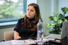 Natasha Danielá de Lima McGlynn during an AVP Fiscal Meeting. Photo Credit: Sebastian Hernandez.