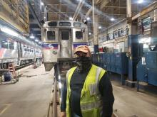 Juan Torres Lopez, 1st Class Electrician, 2 ½ years of service. Photo by SEPTA
