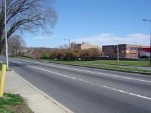 Roosevelt Boulevard at Rhawn Street, looking north toward Pennypack Circle. Photo from Wikimedia Commons.