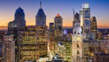 Think Stock Photo of Philadelphia landscape.