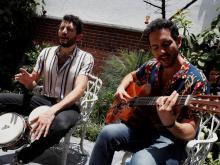 """Lito de la Isla and Paul Sefchovich, """"Los Rumberos"""". Photo by Alex Cruz."""