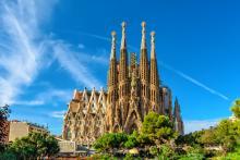 Basilica of the Sagrada Familia. Archive image.