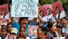 Manifestaciones por la muerte del activista mexicano Samir Flores en febrero de 2019. Photo: EFE