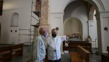 La Iglesia de San José se inaugurará el 19 de marzodespués de un proceso de restauración tan complejo como revelador.Photo: AP