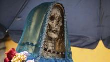 The Mexican Enriqueta Vargas, a quesadillas seller, celebrated the first Santa Muerte ceremony in 2001. Getty Images.