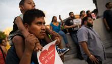 NASHVILLE, TN - MAY 31 2018: Immigrant families and activists rallied outside the Tennessee State Capitol against HB 2315, a law that prohibits sanctuary city policies in the state. (Photo by Drew Angerer/Getty Images)