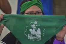 Demonstration for the decriminalization of abortion in El Salvador. Photo by Camilo Freedman.