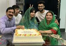 Malala & family