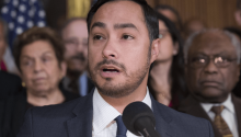 In mid February, Rep. Joaquin Castro (D-TX) reintroduced his bipartisan bill to guarantee financial support and paid internships in the U.S. State Department. Photo: Alex Brandon/The Associated Press