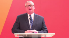 Philadelphia Mayor Jim Kenney was one of many speakers at the launch of Ready.Set.Philly! on March 24, 2021. Screenshot: Nigel Thompson/AL DÍA News.