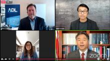 Jeffrey Abrams, Profesor Jerry Kang, Jihee Huh and Rep. Ted Lieu. Photo: Facebook Live