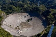 The Arecibo Observatory's  telescope collapsed