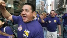 Photo: AL DÍA News file photo from a union rally earlier this year.