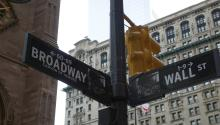 Broadway traffic sign in New York